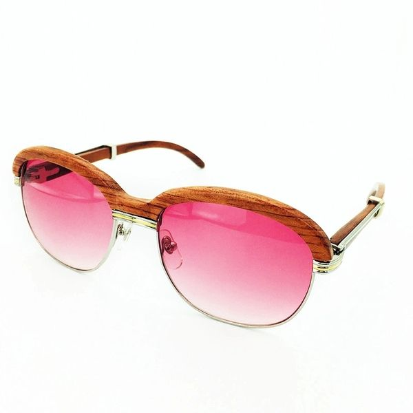 Ladies Silver Pink Cartier Malmaison Palisander Rosewood Glasses (Ladies Only Special Edition) (Free Express Shipping)
