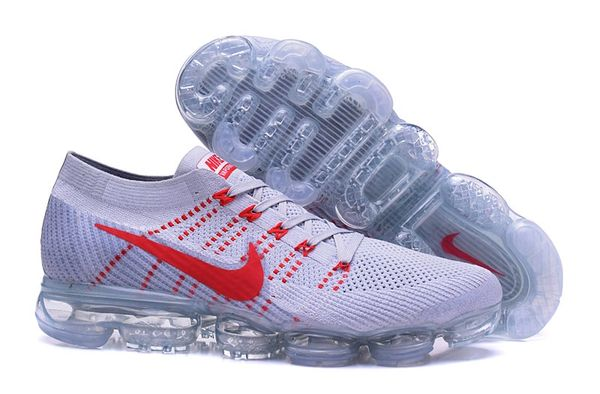 2018 Grey/Red Nike Air Vapor Max Flyknit 2