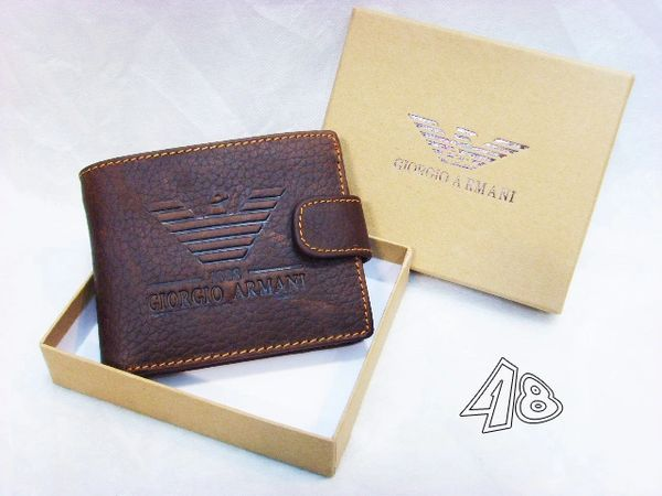 Men's Armani Custom Leather Bi-fold Wallet E