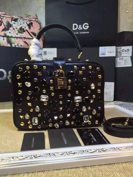 Vintage Dolce & Gabbana Embellished Camera Bag