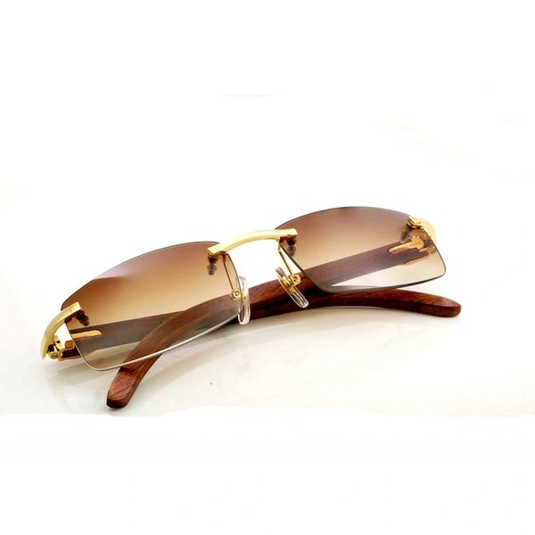 Unisex 2017 Wood Frame Cartier Sunglasses (Free Express Shipping)