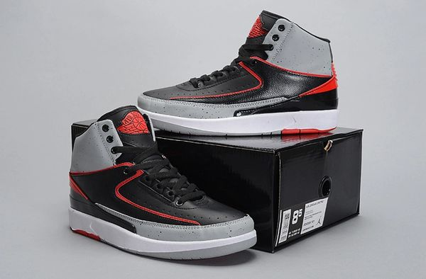 Air Jordan 2 (II) Retro Grey/Black/Red/White Sneaker