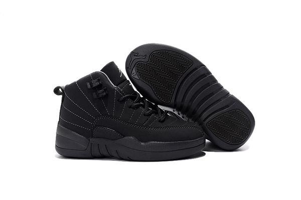 "Air Jordan 12 ""PSNY"" Dark Grey/Black Little Kids' Shoe"