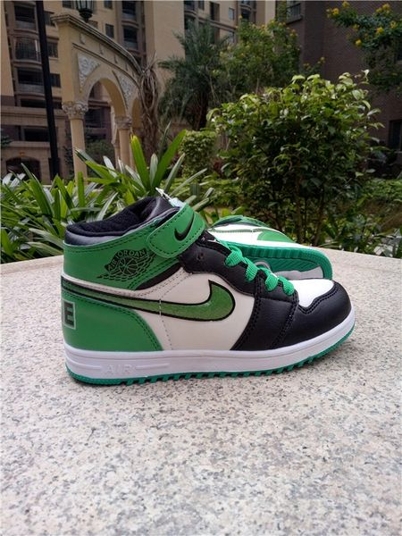 Air Jordan 1 Retro High Og Bg (Gs) White/Black/Green Little Kids' Shoe