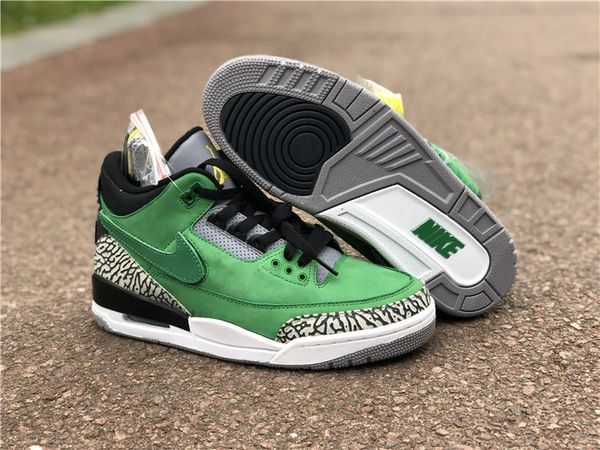 NEW Nike Oregon Ducks Air Jordan 3 Tinker PE Sneakers (Special Limited Edition)