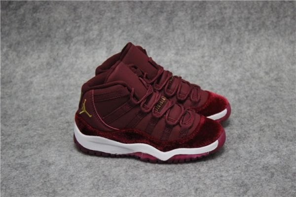 Air Jordan 11 Retro Bg (Gs) Maroon/White Little Kids' Shoe