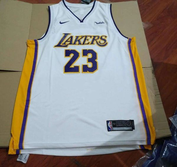 Lebron James Icon Edition Original White Jersey (Los Angeles Lakers)