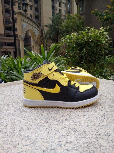 Air Jordan 1 Retro High Og Bg (Gs) White/Black/Yellow Little Kids' Shoe
