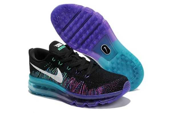 Ladies Nike Flyknit Air Max 2014 Purple Venom Running Shoe