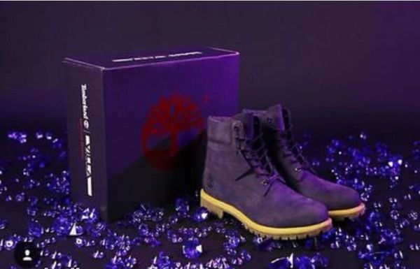 NEW Ladies Timberland X Villa 'Purple Diamond' 6 Inch Boot