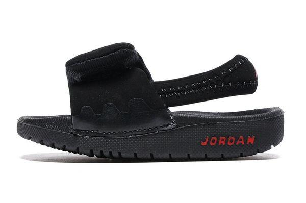 Air Jordan Hydro Custom Black/Red Little Kids' Sandals