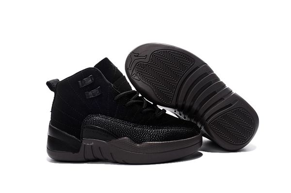 Air Jordan 12 Retro Bg (Gs) Double Black Little Kids' Shoe