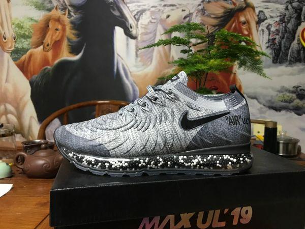 NEW 2019 Gray Black Nike Air MAX UL' 19 Running Shoe