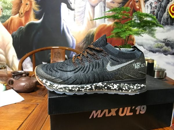 NEW 2019 Black Orange Silver Nike Air MAX UL' 19 Running Shoe