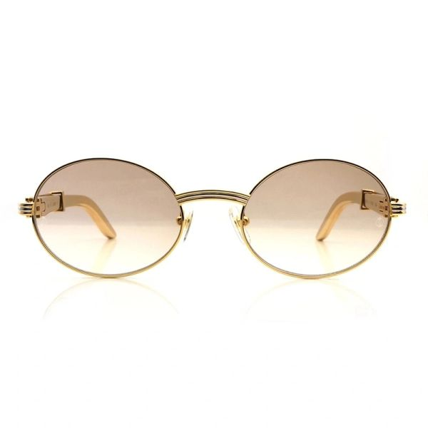 Cartier Vintage Double Gold Giverny Luxury Glasses (Free Express Shipping)