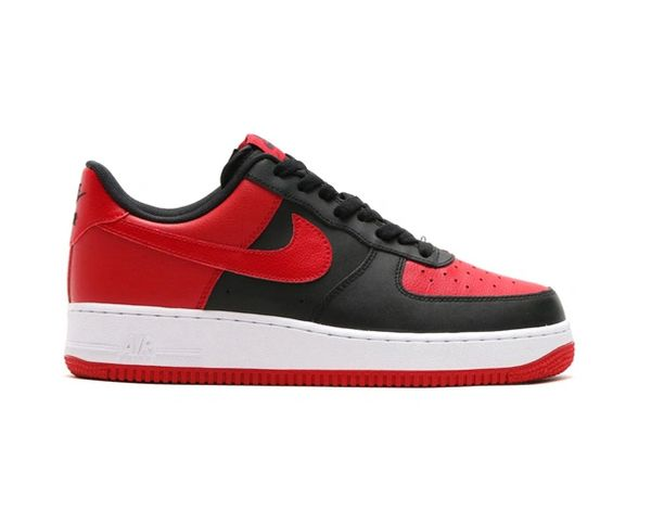 Men's Nike Air Force 1 Low Black & Gym Red Sneakers