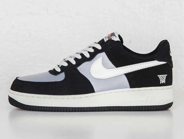 Men's Nike Air Force 1 07 Low Black Sail & Wolf Grey Sneakers