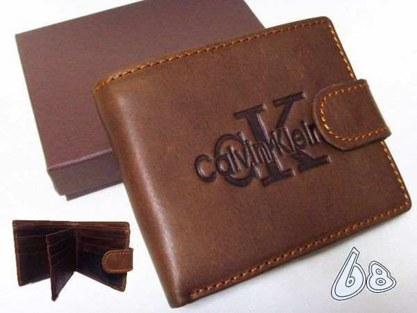 Men's Calvin Klein Jeans Custom Embossed Logo Billfold Wallet
