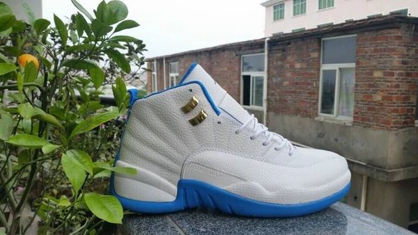 "Air Jordan Retro GG (GS) ""MELO"" White Metallic Gold-University Blue Sneaker 510815-127"