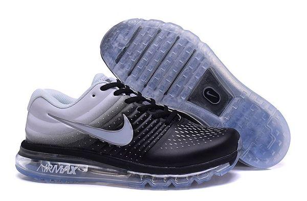 Ladies Nike 2017 Black/Grey Air Max Running Shoe