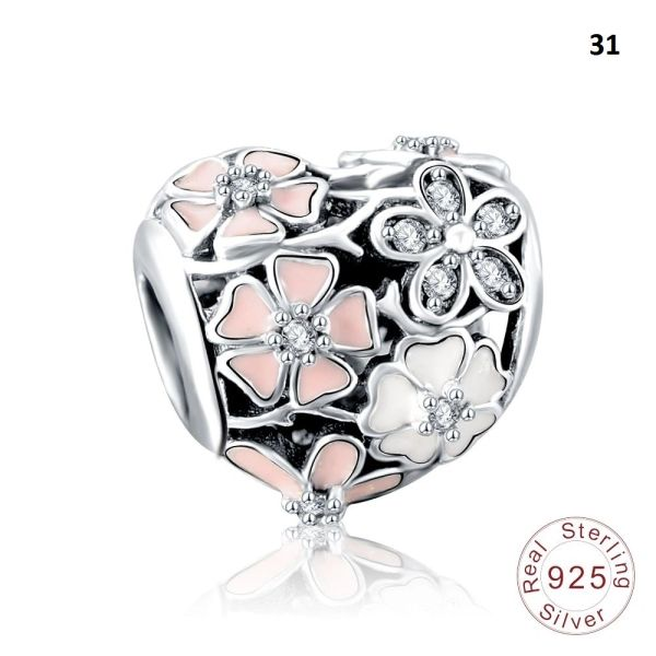 Real 925 Sterling Silver Crafted Pandora & Universal Charms Catalog 4 (10 Charms To Choose From) (Free 7 Day Shipping If You Purchase 10 Or More Charms)