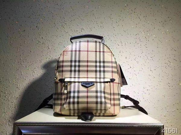 Vintage Burberry London Nova Check Plaid Pattern Backpack