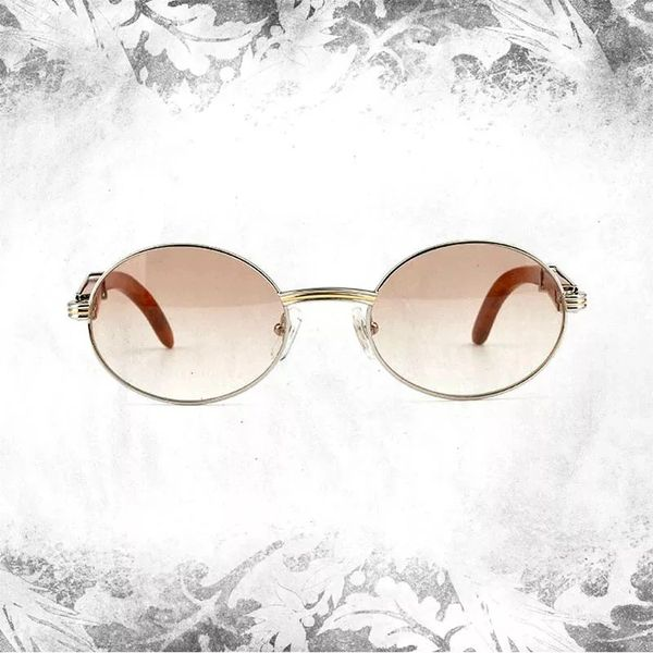 Cartier Giverny Retro Wood Buffalo Horn Sunglasses