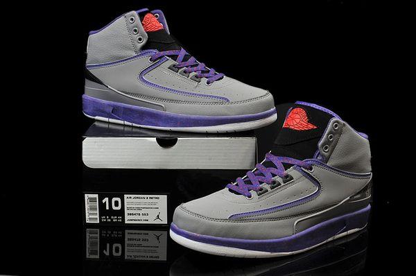 Air Jordan 2 (II) Retro Grey/Purple/Black Sneaker