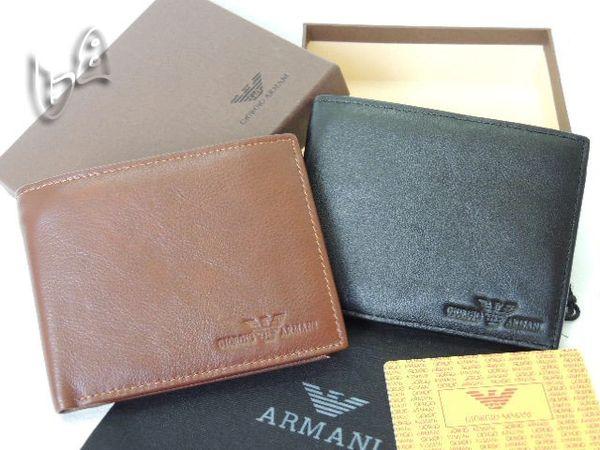 Men's Armani Custom Leather Bi-fold Wallet A