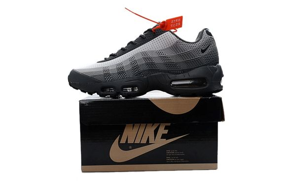 Men's Nike Air Max 95 iD Black/Grey/White Shoes
