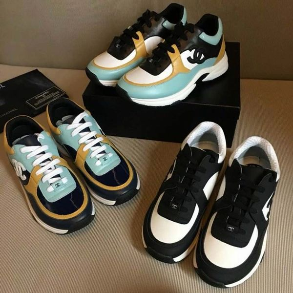 New Ladies Original Chanel Low Canvas Sneakers Catalog 1 (3 Colors Available)