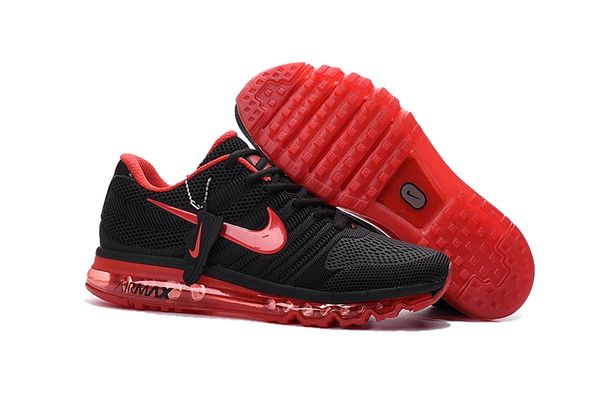 Ladies Nike 2017 Black/Red Air Max Running Shoe