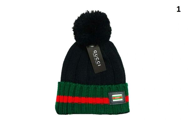 NEW Winter Original Gucci Knit Wool Hat Catalog 2 (With Pom)