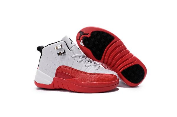 Air Jordan Retro 12 White/Varsity Red/Black Little Kids' Shoe