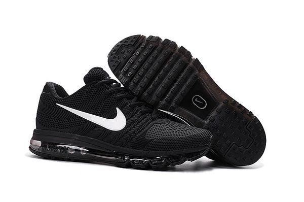 Men's Nike 2017 Black/White Air Max Running Shoe