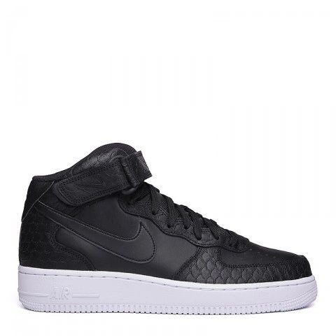 Men's Nike Air Force 1 Mid Black Sneakers