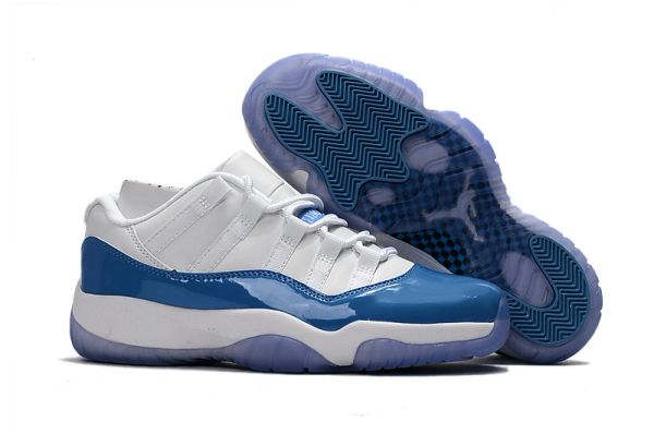 Air Jordan 11 Retro Low – White/University Blue Sneakers 528895-106