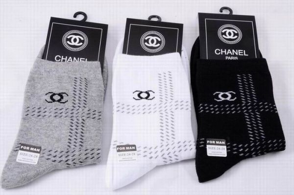 Chanel Track Print Luxury Striped CC Logo Casual Socks 1399589