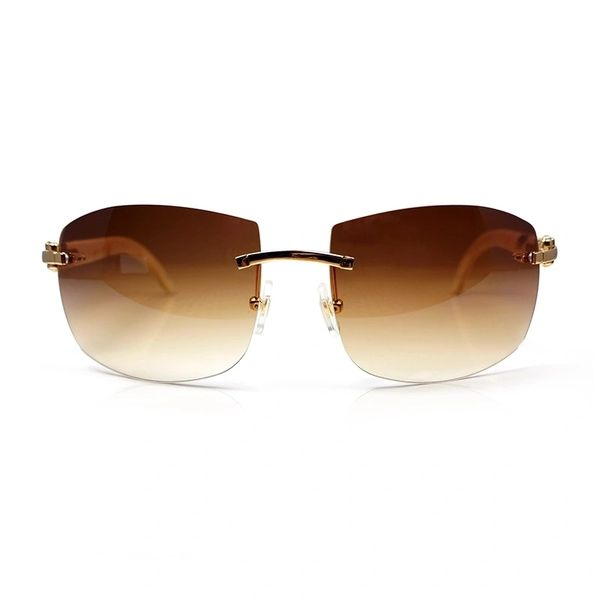 "Cartier ""C"" Décor White Buffalo Horn Sunglasses (Free Express Shipping)"