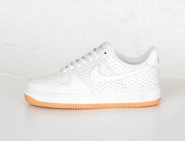 Men's Nike Air Force 1 07 Low Premium White & Summit White Sneakers