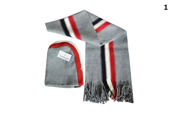 NEW Winter Original Moncler Knit Wool Hat & Scarf Set