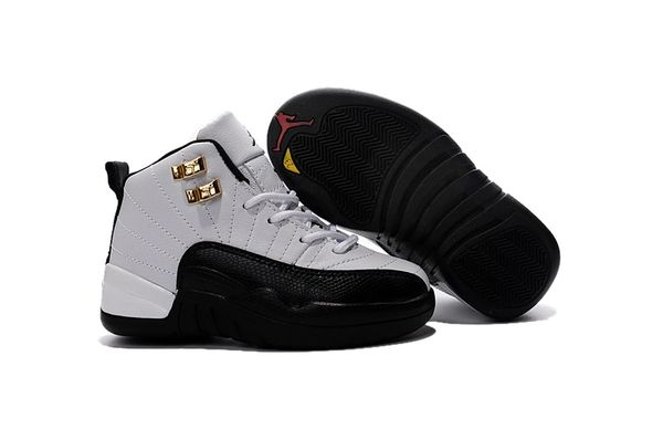 "Air Jordan Retro 12 White/Black-Taxi-Varsity Red Little Kids' Shoe ""Taxi"""