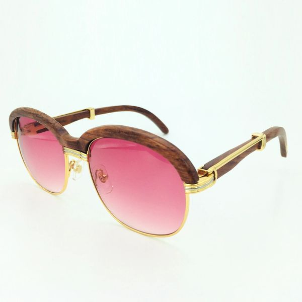 Ladies Gold Pink Cartier Malmaison Palisander Rosewood Glasses (Ladies Only Special Edition) (Free Express Shipping)