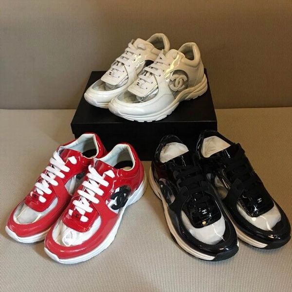 New Ladies Original Chanel Low Canvas Sneakers Catalog 3 (3 Colors Available)