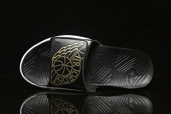 NEW Air Jordan Metallic Gold Hydro 7 Sandals