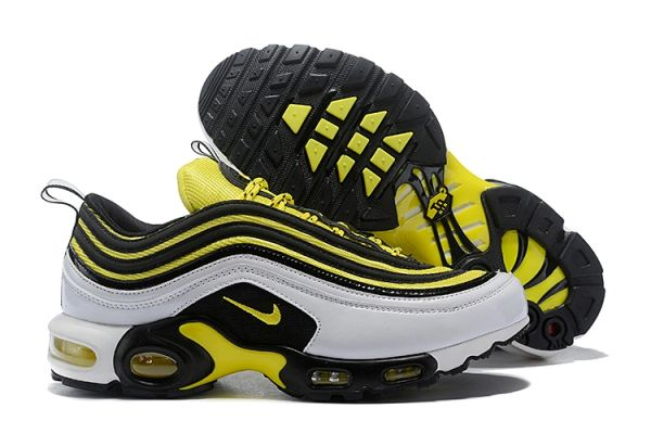 NEW White Black Yellow Nike Air Max Plus 'Frequency Pack' Running Shoe (Special Edition)