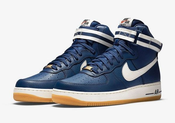 Men's Nike Air Force 1 High 07 Coastal Blue Gum Light Brown Sneakers