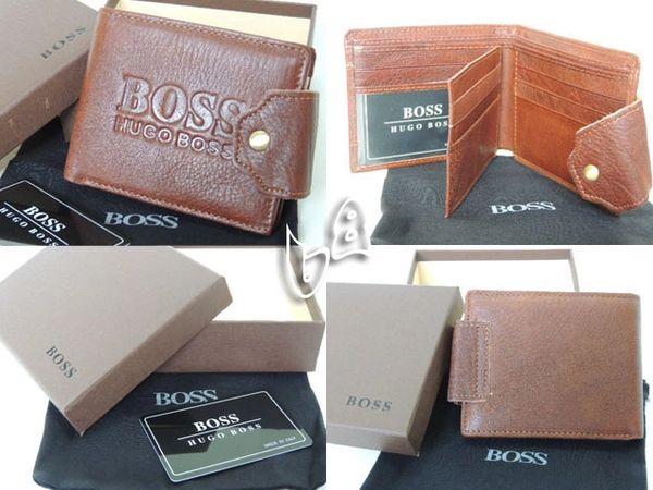 Men's Hugo Boss Custom Leather Subway Wallet A