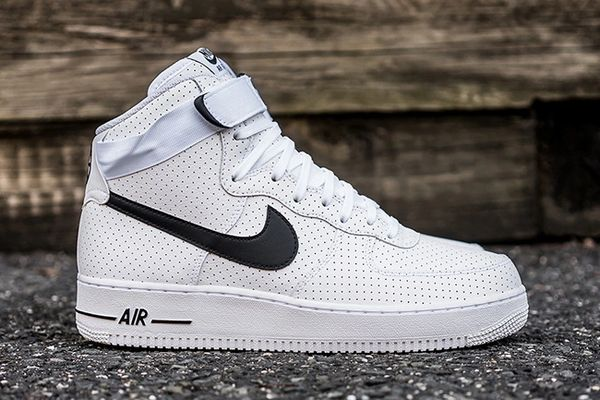 Men's Nike Air Force 1 High 07 White & Black Sneakers