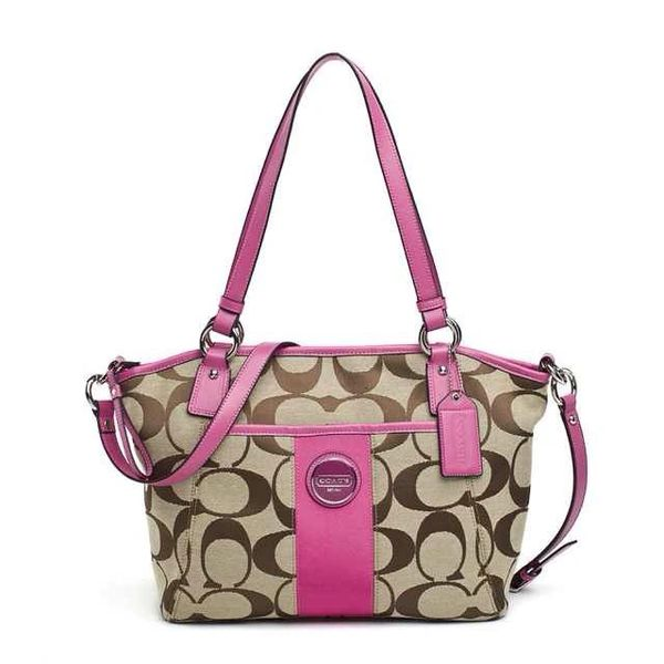 Ladies Coach Signature Canvas Satchel